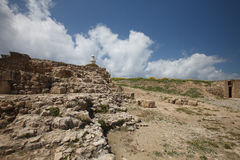 Archaeological Park of Cyprus. The ruins of the amphitheater Royalty Free Stock Photography