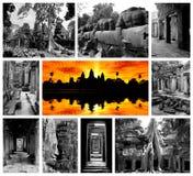 archaeological park för angkor Arkivbild