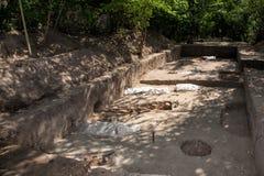 archaeological park för paphos för cyprus utgrävningkato axeln royaltyfria bilder