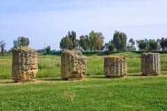 Archaeological Park. Metaponto. Basilicata. Italy. Stock Image