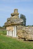 Archaeological Park. Metaponto. Basilicata. Italy. Royalty Free Stock Photo
