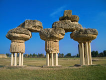 Archaeological Park of Metapontum. Basilicata. Royalty Free Stock Image