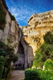 Archaeological Park of Neapolis, Sicily, cavern of Dionysius Royalty Free Stock Photography