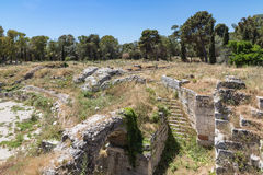 Archaeological Park of Neapolis at Syracusa, Sicily Royalty Free Stock Image