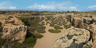 Archaeological park panorama in cyprus Royalty Free Stock Photography