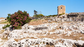 Archaeological Park of Syracuse city in Sicily Stock Images