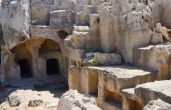 Archaeological park Tombs of Kings,ancient graves catacombs,Cyprus Stock Photos