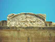 Archaeological remains at the ancient site of Ephesus in Anatolia; retro style Royalty Free Stock Photography