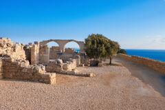 Archaeological remains of Kourion in Cyprus Royalty Free Stock Images
