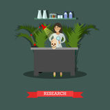 Archaeological research concept vector illustration in flat style Stock Photography