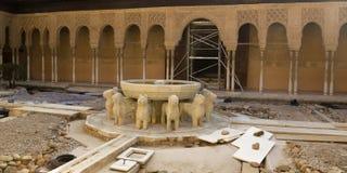 Archaeological restoration Royalty Free Stock Image