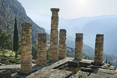 The archaeological ruins of Delphi in Greece Stock Images