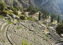 The archaeological ruins of Delphi in Greece Royalty Free Stock Images