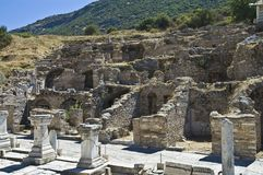 Archaeological ruins of Efes Stock Photography