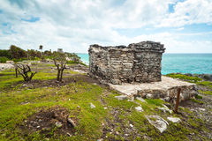 Archaeological ruins of Tulum Stock Photography