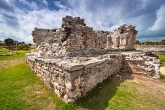 Archaeological ruins of Tulum. In Mexico stock photography