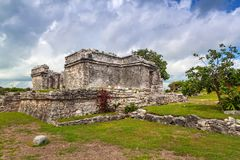 Archaeological ruins of Tulum. In Mexico royalty free stock image