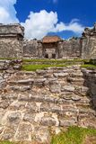 Archaeological ruins of Tulum. In Mexico stock images