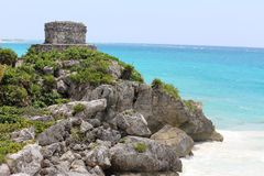 The archaeological ruins of Tulum, Mexico Royalty Free Stock Photos