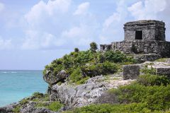 The archaeological ruins of Tulum, Mexico Royalty Free Stock Photo