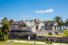 Archaeological ruins of Tulum Royalty Free Stock Photos