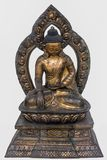 Sakyamuni Buddha, Copper Gilded 18th Century , Nepal royalty free stock photos