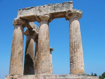 Archaeological site of Ancient Corinth Peloponnese Greece Royalty Free Stock Images