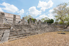 Archaeological Site of the Ancient Mayan Ruins, Chichen Itza, Mexico Royalty Free Stock Photos