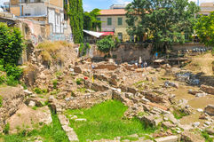 Archaeological site in Athens, Greece Royalty Free Stock Image