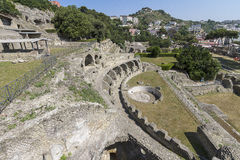 Archaeological site in Baia near Naples Royalty Free Stock Images