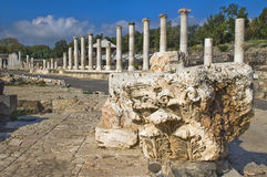 Archaeological site ,  Beit Shean , Israel Stock Photography