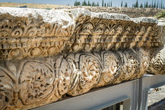 Archaeological site Capernaum, Sea of Galilee in Israel Royalty Free Stock Image