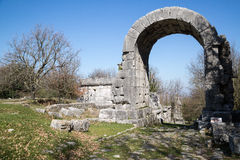 Archaeological site of Carsulae in Italy. View of the archaeological site of Carsulae. Carsulae is an archaeological site in Umbria, central Italy, now one of Stock Photos