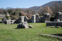 Archaeological site of Carsulae in Italy. View of the archaeological site of Carsulae. Carsulae is an archaeological site in Umbria, central Italy, now one of Stock Image