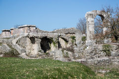 Archaeological site of Carsulae in Italy. View of the archaeological site of Carsulae. Carsulae is an archaeological site in Umbria, central Italy, now one of Royalty Free Stock Photography