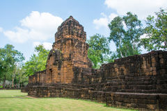 Archaeological site, Castle of Thailand Royalty Free Stock Photos