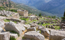The archaeological site of Delphi, Greece Stock Photos