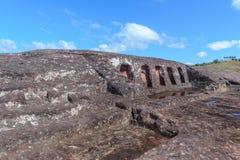 Archaeological site of El Fuerte de Samaipata, Bolivia. Archaeological site of El Fuerte de Samaipata UNESCO World Heritage Site, Bolivia royalty free stock photos