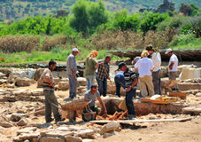 Archaeological site in Ephesus Royalty Free Stock Photo