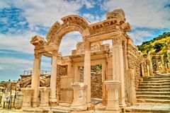 Archaeological site of Ephesus in Turkey. Stock Photos
