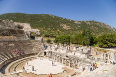 Archaeological site of Ephesus, Turkey. View of the Grand Theatre, 133 BC Stock Images