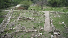 Archaeological site. Excavations of ancient archaeological site stock footage