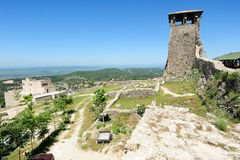 Archaeological site and Fortress of Kruja Royalty Free Stock Photo