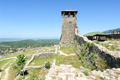 Archaeological site and Fortress of Kruja Stock Image