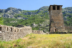 Archaeological site and Fortress of Kruja Royalty Free Stock Image