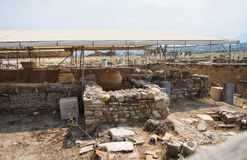 The archaeological site of houses, Laodicea on the Lycus, Turkey. The archaeological site of houses in archaic Laodicea on the Lycus city at the Denizli Province Stock Photography