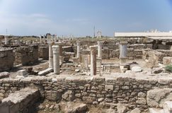 The archaeological site of houses, Laodicea on the Lycus, Turkey. The archaeological site of houses in archaic Laodikeia city at the Denizli Province, Laodicea Stock Photography