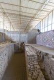 Archaeological site Huaca del Sol y de la Luna, Peru Stock Image