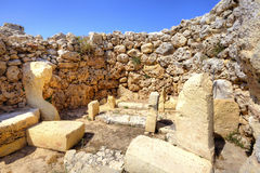 Archaeological site on the island of Gozo in Malta. Stock Images