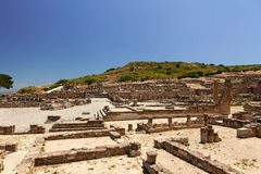 Archaeological site of Kameiros in Rhodes. Royalty Free Stock Photos
